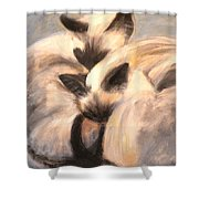 Siamese Lovers Shower Curtain