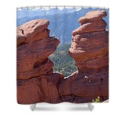 Siamese Twins And Pikes Peak Shower Curtain