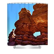 Siamese Twins Natural Window Shower Curtain