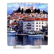 Sibenik Waterfront Shower Curtain