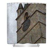 Sibiu Clock Tower Shower Curtain
