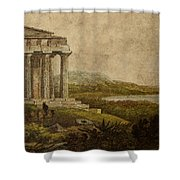 Sicilian Scenery 1823 Shower Curtain