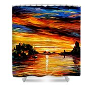 Sicily - Catania Shower Curtain