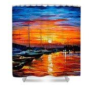 Sicily - Harbor Of Syracuse Shower Curtain