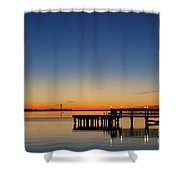 Calmer Waters Shower Curtain