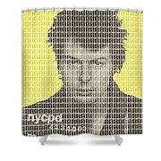 Sid Vicious Mug Shot - Yellow Shower Curtain