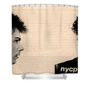 Sid Vicious Mugshot Shower Curtain by Bill Cannon