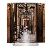 Side Aisle Of The Basilica Of The Mafra Shower Curtain