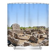 Side Ancient Shop Ruins Shower Curtain