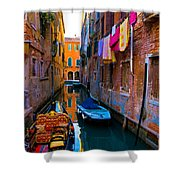 Side Canal  Venice Shower Curtain