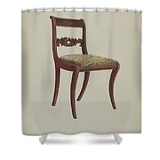 Side Chair Shower Curtain