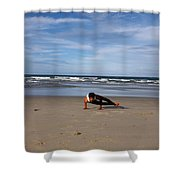 Side Crow Shower Curtain