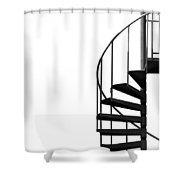 Side Entrance Shower Curtain by Evelina Kremsdorf