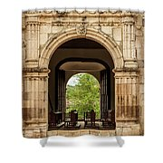 Side Entrance Of Copala Church Shower Curtain