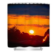 Side Mirror Sunset Shower Curtain