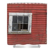 Side Of An Old Red Barn Quechee, Vermont Shower Curtain