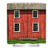 Side Of Barn And Windows At Old World Wisconsin Shower Curtain