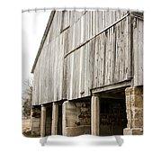 Side Of The Amana Farmer's Market Barn Amana Ia Shower Curtain