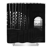 Side Of The Bridge  Shower Curtain
