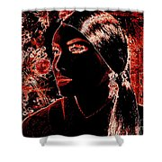 Side Pony Paula Shower Curtain