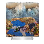 Side Show Mountains Shower Curtain