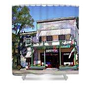 Side Street Cafe Los Olivos Ca Shower Curtain