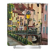 Side Streets In Annecy Shower Curtain