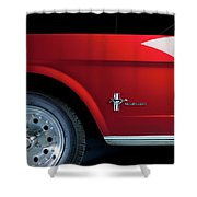 Side View Of 1964 Ford Mustang Shower Curtain