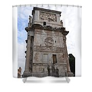 Side View Of The Arch Of Constantine Shower Curtain