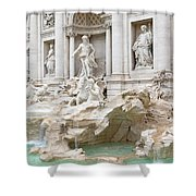 Side View Of The Trevi Fountain In Rome Shower Curtain