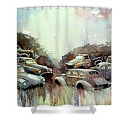 Sidehill Retirees Shower Curtain