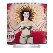 Sideshow Poster, C1965 Shower Curtain