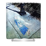 Sidewalk Angel Shower Curtain