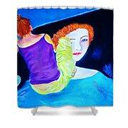 Sidewalk Artist II Shower Curtain