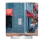 Sidewalk Cafe Annapolis Shower Curtain