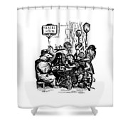 Sidewalk Cafe Grandville Transparent Background Shower Curtain