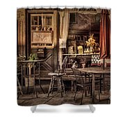 Sidewalk Cafe Shower Curtain