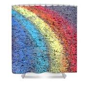 Sidewalk Rainbow  Shower Curtain