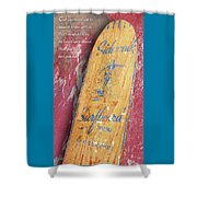 Sidewalk Surfboard Shower Curtain