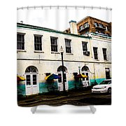 Sidewalk Tables Shower Curtain