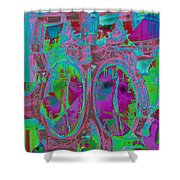Sidewalk Timepiece Shower Curtain