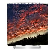 Sideways Sky Shower Curtain