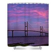 Sidney Lanier Bridge Shower Curtain