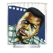 Sidney Poitier Shower Curtain