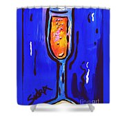 Sidzart Pop Art Series 2002 Champagne Celebration Shower Curtain