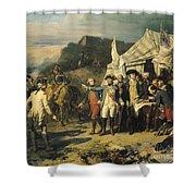 Siege Of Yorktown Shower Curtain