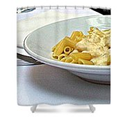 Siena-3-pasta With Four Cheeses Shower Curtain