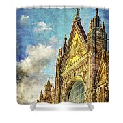 Siena Duomo Facade In The Sunset Shower Curtain