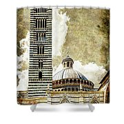 Siena Duomo Tower And Cupola Shower Curtain