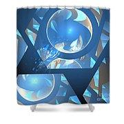 Sienna Blue Honeycomb Shower Curtain